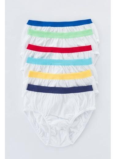 Penti Erkek Çocuk Color 6Lı Slip Külot Beyaz